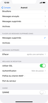Apple iPhone XR - E-mail - Configuration manuelle - Étape 25