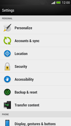 HTC One - Mobile phone - Resetting to factory settings - Step 4