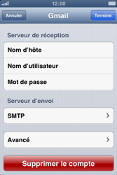Apple iPhone 3GS - E-mail - Configuration manuelle - Étape 14