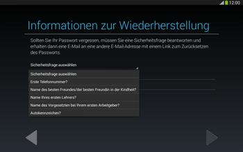 Samsung Galaxy Tab 3 10-1 LTE - Apps - Konto anlegen und einrichten - 14 / 25