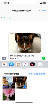 Apple iPhone XS - MMS - envoi d'images - Étape 12