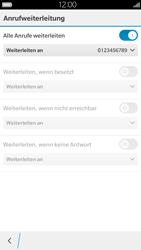 BlackBerry Leap - Anrufe - Rufumleitungen setzen und löschen - 12 / 13