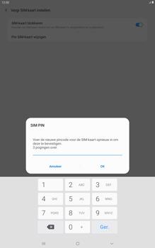 Samsung galaxy-tab-a-10-5-sm-t595-android-pie - Beveiliging en ouderlijk toezicht - Hoe wijzig ik mijn SIM PIN-code - Stap 10
