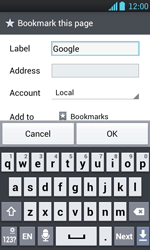 LG P700 Optimus L7 - Internet - Internet browsing - Step 6