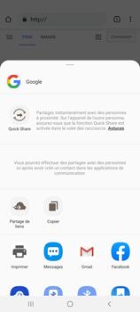 Samsung Galaxy S20 Ultra 5G - Internet et roaming de données - Navigation sur Internet - Étape 23