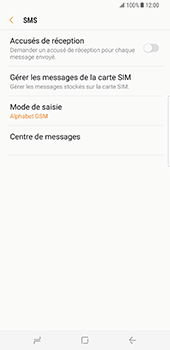 Samsung Galaxy S8 Plus - SMS - Configuration manuelle - Étape 10