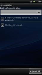 Sony Ericsson ST18i Xperia Ray - E-mail - handmatig instellen - Stap 9