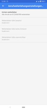 Sony Xperia 1 - Anrufe - Rufumleitungen setzen und löschen - Schritt 11