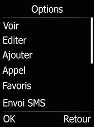 Doro 6520 - Contact, Appels, SMS/MMS - Ajouter un contact - Étape 8