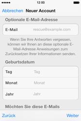 Apple iPhone 4 S mit iOS 7 - Apps - Konto anlegen und einrichten - Schritt 25