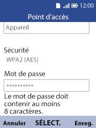 Alcatel 3088X - Internet et connexion - Partager votre connexion en Wi-Fi - Étape 9