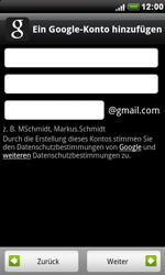 HTC Desire - Apps - Konto anlegen und einrichten - 1 / 1