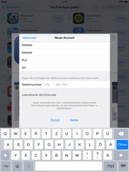 Apple iPad mini - iOS 8 - Apps - Einrichten des App Stores - Schritt 23