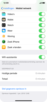 Apple iPhone X - iOS 12 - wifi - schakel Wi-Fi Assistentie uit - stap 5