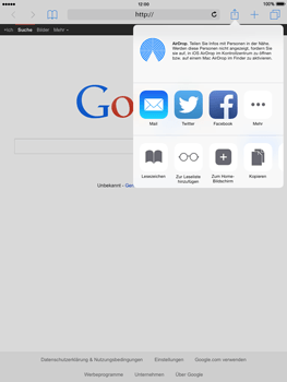 Apple iPad Air iOS 8 - Internet und Datenroaming - Verwenden des Internets - Schritt 18