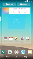 LG G3 - Getting started - Installing widgets and applications on your start screen - Step 6