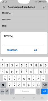 Huawei P20 Pro - Android Pie - Internet und Datenroaming - Manuelle Konfiguration - Schritt 13