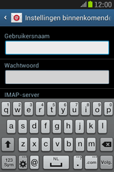 Samsung S6310 Galaxy Young - E-mail - e-mail instellen: IMAP (aanbevolen) - Stap 8