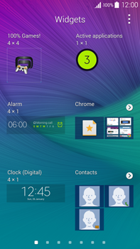 Samsung Galaxy Note 4 - Getting started - Installing widgets and applications on your start screen - Step 5