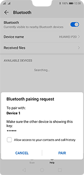 Huawei P20 - Android Pie - Bluetooth - Connecting devices - Step 7