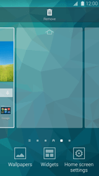 Samsung Galaxy S 5 - Getting started - Installing widgets and applications on your start screen - Step 4