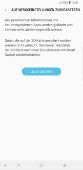 Samsung Galaxy S8 Plus - Android Oreo - Gerät - Zurücksetzen auf die Werkseinstellungen - Schritt 8