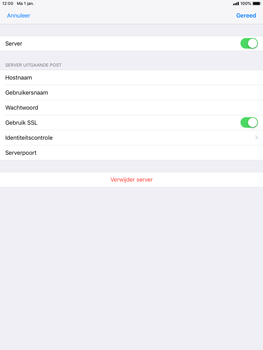 Apple ipad-air-ios-12 - E-mail - Account instellen (POP3 met SMTP-verificatie) - Stap 18