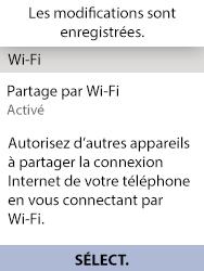 Alcatel 3088X - Internet et connexion - Partager votre connexion en Wi-Fi - Étape 14