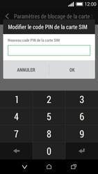 HTC Desire 510 - Sécuriser votre mobile - Personnaliser le code PIN de votre carte SIM - Étape 8