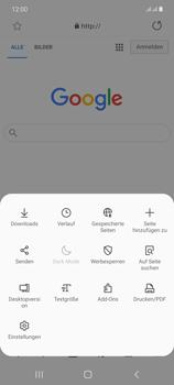 Samsung Galaxy Note 20 5G - Internet und Datenroaming - Verwenden des Internets - Schritt 10