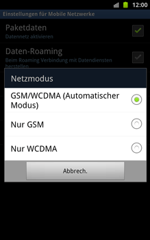 Samsung Galaxy Note - Netzwerk - Netzwerkeinstellungen ändern - 7 / 7