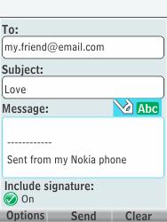 Nokia 301-1 - E-mail - Sending emails - Step 11