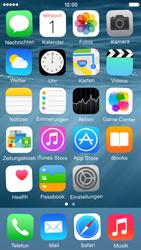 Apple iPhone 5s - iOS 8 - Startanleitung - Personalisieren der Startseite - Schritt 8