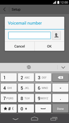 Huawei Ascend P6 LTE - Voicemail - Manual configuration - Step 8