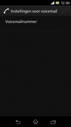 Sony C1905 Xperia M - Voicemail - Handmatig instellen - Stap 10