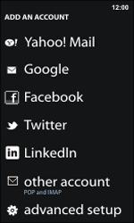 Nokia Lumia 800 / Lumia 900 - E-mail - Manual configuration - Step 6
