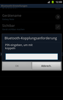 Samsung N7000 Galaxy Note - Bluetooth - Geräte koppeln - Schritt 11