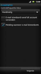 Sony MT27i Xperia Sola - e-mail - handmatig instellen - stap 14