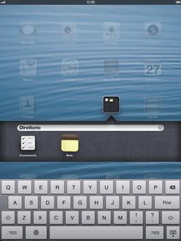 Apple iPad Retina - Operazioni iniziali - Personalizzazione della schermata iniziale - Fase 6