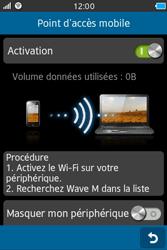 Samsung Wave M - Internet et connexion - Partager votre connexion en Wi-Fi - Étape 9
