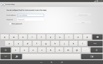 Sony Xperia Tablet Z2 LTE - E-mail - manual configuration - Step 5