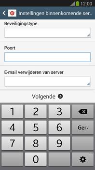 Samsung N9005 Galaxy Note III LTE - E-mail - Account instellen (POP3 zonder SMTP-verificatie) - Stap 10