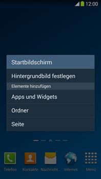 Samsung Galaxy Note III LTE - Startanleitung - Installieren von Widgets und Apps auf der Startseite - Schritt 4
