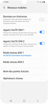 Samsung Galaxy A40 - Internet et connexion - Activer la 4G - Étape 8