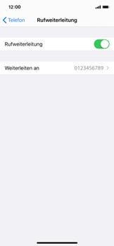 Apple iPhone X - iOS 13 - Anrufe - Rufumleitungen setzen und löschen - Schritt 8