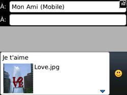BlackBerry 9320 - Contact, Appels, SMS/MMS - Envoyer un MMS - Étape 13