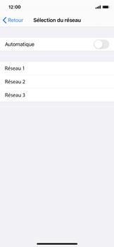 Apple iPhone X - iOS 14 - Réseau - Sélection manuelle du réseau - Étape 7