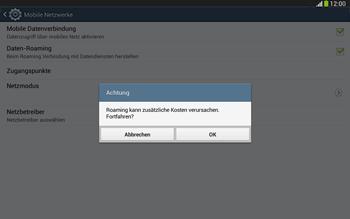 Samsung Galaxy Tab 3 10-1 LTE - Ausland - Im Ausland surfen – Datenroaming - 9 / 12