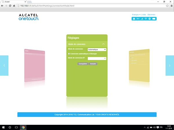Alcatel MiFi Y900 - Internet et roaming de données - Désactivation du roaming de données - Étape 7