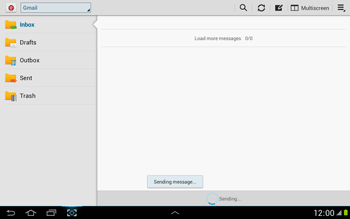 Samsung N8000 Galaxy Note 10-1 - E-mail - Sending emails - Step 16